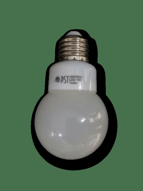 لامپ 1 وات هفت رنگ پارس شعاع توس